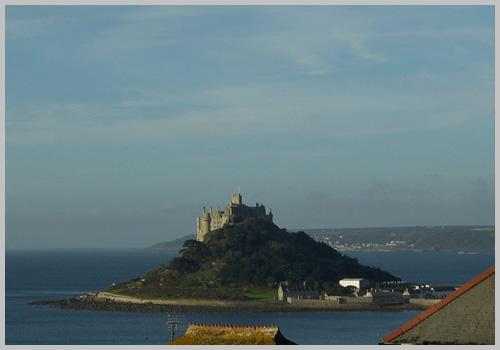 St. Michael's Mount. View from Gillan Cottage, Marazion Holiday Cottage - self catering holiday cottage, West Cornwall