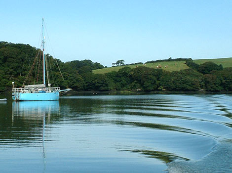 The Fal Estuary, Falmouth, Cornwall